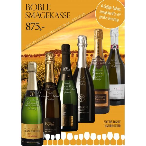 """""""Boble smagekasse"""" M/ 6 vine + smagehæfte GRATIS LEVERING-31"""