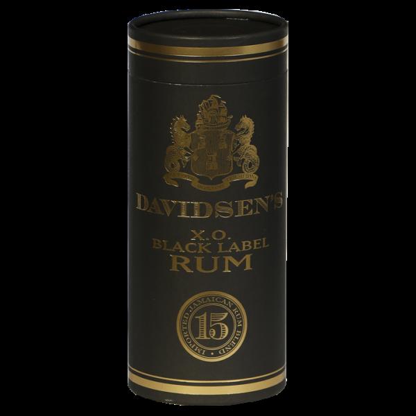 DAVIDSENS X.O. BLACK LABEL RUM, 15 YEAR BLEND JAMAICA LEVERES M / RØR-31