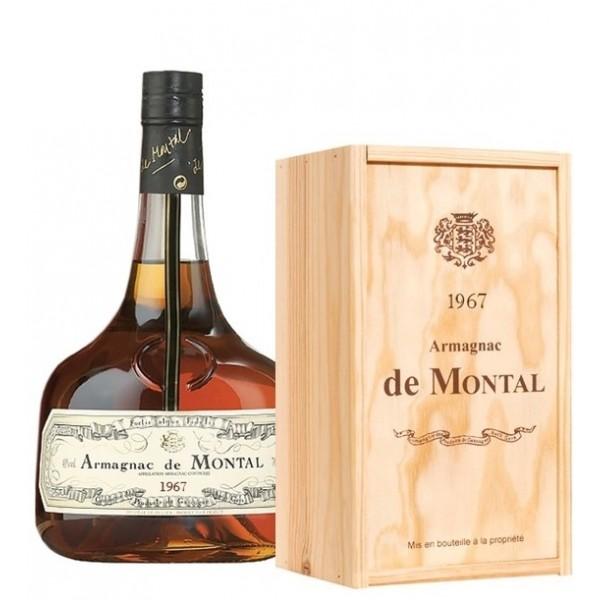 Armagnac de Montal 1967 I flot trækasse med årgang og navn-31