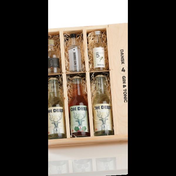 Trækasse m/ danske gin and tonic FANTASTISK GAVEIDÈ-31