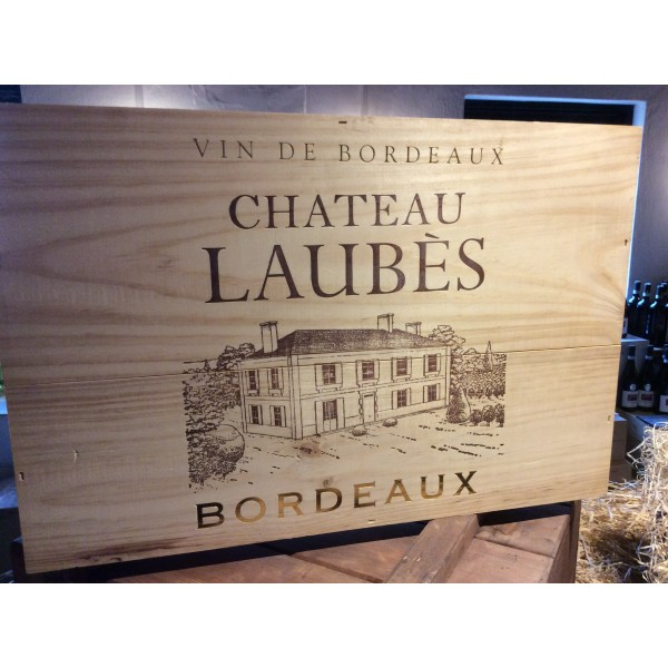 Ch. Laubés Cadillac Entre-Deux-Mers Bordeaux i 6 stk. original trækasse-31
