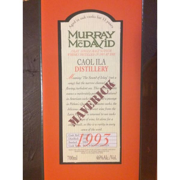 """Caol Ila Islay Murray McDavid """"Maverick"""" 1993-34"""
