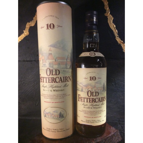 Old Fettercairn 10 year Highland single malt In a old box, which not done anymore-33