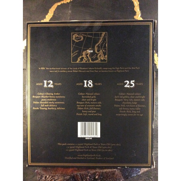 Highland Park Boxsæt 12 18 25 års. 33,3 cl. Old style Highland-35