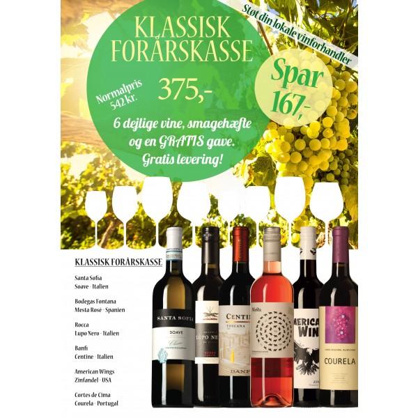 Klassisk forårskasse M/ 6 vine, smagehæfte og overraskelse GRATIS LEVERING-31
