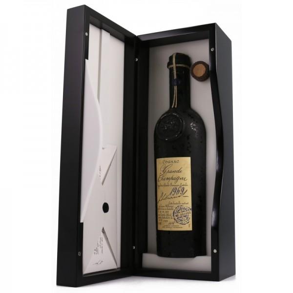 Lheraud Cognac Petite Champagne 1969 I gl. flaske m/certifikat og org. kasse-31
