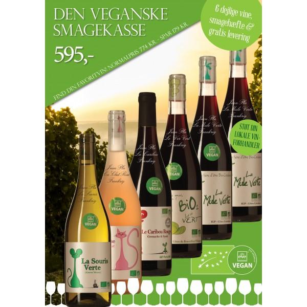 """""""Vegansk smagekasse"""" M/ 6 vine + smagehæfte GRATIS LEVERING-31"""