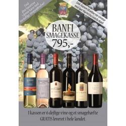 """""""Toscansk smagekasse fra Banfi"""" M/ 6 vine + smagehæfte og link til vinseminar GRATIS LEVERING-20"""