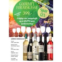 Gourmet-forårskasse M/ 6 vine, smagehæfte og overraskelse GRATIS LEVERING-20