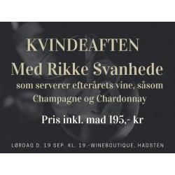 KVINDE-AFTEN M/RIKKE SVANHEDE (vi smager Champagne and Chardonnay) INKL. TAPAS-20