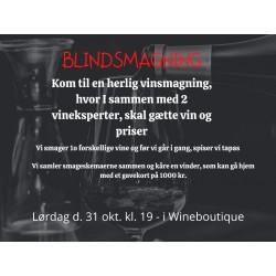 BLINDSMAGNING VIN AFTEN VI SKAL GÆTTE PRIS, LAND, DRUESORT INKL. MAD-20