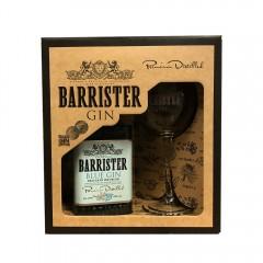 BARRISTER BLUE GIN - RUSLAND - Gaveæske med gin + org. ginglas