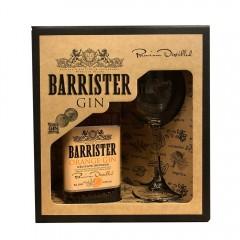 BARRISTER ORANGE GIN - RUSLAND - Gaveæske med gin + org. ginglas