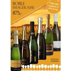 """""""Boble smagekasse"""" - M/ 6 vine + smagehæfte - GRATIS LEVERING"""