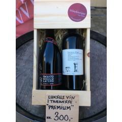 Trækasse m/ 2 vine - Premium