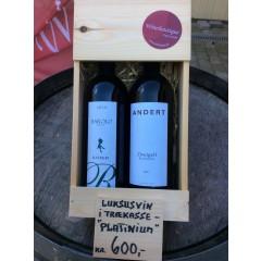 Trækasse m/ 2 vine - Platinium