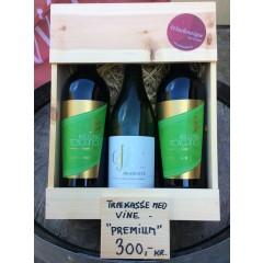Trækasse m/ 3 fl. div. vine - Premium Køb