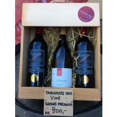 Trækasse m/ 3 fl. div. vin - Grand Premium Køb