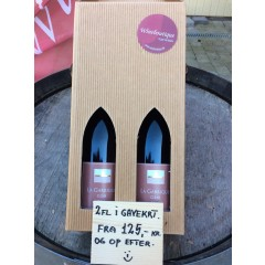 2 fl. vin i pæn gavekarton - Premium Køb