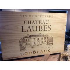 Ch. Laubés - Cadillac - Entre-Deux-Mers - Bordeaux - i 6 stk. original trækasse