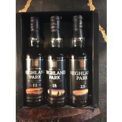 Highland Park - Boxsæt - 12 - 18 - 25 års. 33,3 cl. - Old style Highland