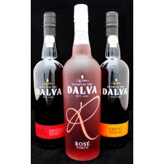 3 forskellige Portvine fra Dalva