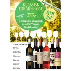 Klassisk forårskasse M/ 6 vine, smagehæfte og overraskelse - GRATIS LEVERING