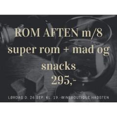 ROM-SMAGNING D. 26 SEPTEMBER M/ MAD - SNACKS - KAFFE