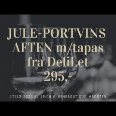 JULESMAGNING D. 17 DECEMBER 2020 MED ELEGANTE PORTVINE OG TAPAS FRA DELILET, LAURBJERG -
