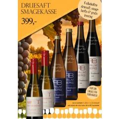 """""""Alkoholfri smagekasse"""" - M/ 6 vine + smagehæfte - GRATIS LEVERING"""