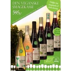 """""""Vegansk smagekasse"""" - M/ 6 vine + smagehæfte - GRATIS LEVERING"""